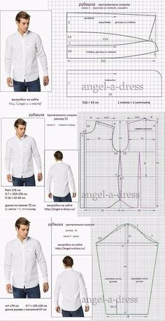 men's shirt pattern with sleeve variations free pattern diagramRead more about mens shirts♥ Deniz ♥Tap the link to check out great cat products we have for your little feline friPattern Making Fundamentals: Dart manipulation and pivot points (VIDEO)Ch Mens Sewing Patterns, Sewing Men, Sewing Clothes, Sewing Tutorials, Clothing Patterns, Men Clothes, Sewing Coat, Sewing Shirts, Sewing Pants