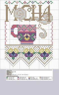 Mocha cross stitch