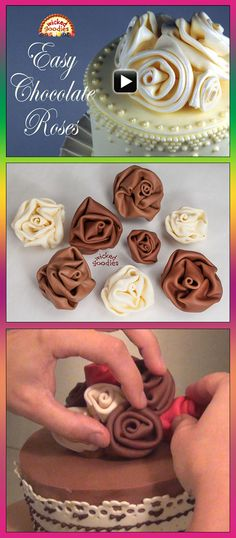 [Video Tutorial] Easy Modeling Chocolate Roses by Wicked Goodies
