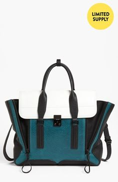 3.1 Phillip Lim 'Pashli' Colorblock Leather Crossbody Satchel   Nordstrom   $652.90/$975 - I love the color and the shape of this bag. Love it. But whoa. Never going to spend that much on a purse...unless maybe I had a million dollars