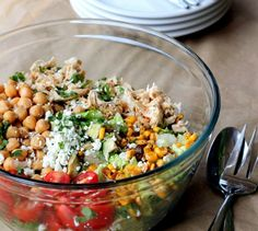 20 Simple Chopped Salads to Make for Lunch This Week (Chicken & Chickpeas)