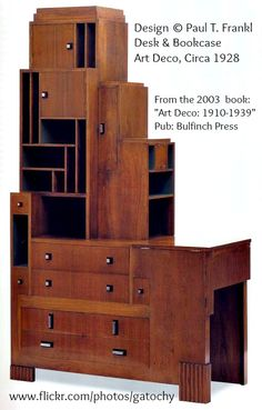 Art Deco Furniture - Paul T. Frankl was born in Austria but moved to New York in He was a designer, architect and furniture maker. Here is The Skyscraper organizer by his design. Art Deco Furniture, Vintage Furniture, Cool Furniture, Furniture Design, Furniture Dolly, Furniture Movers, Furniture Stores, Contemporary Furniture, Art Nouveau