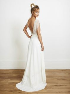wedding dress | rime arodaky vestido espalda abierta