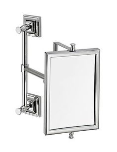 Chrome Square Extendable Bathroom Mirror