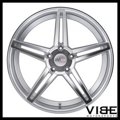 "19"" 20"" TSW CRAY BRICKYARD SILVER FORGED CONCAVE WHEELS RIMS FITS C7 CORVETTE #Cray #brickyard #chevy #corvette #wheels #concave #vibemotorsports"