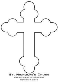 Cross pattern. Use the printable outline for crafts
