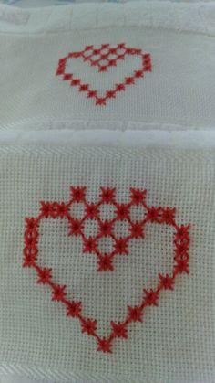 Cross Stitch Borders, Cross Stitch Flowers, Blackwork Patterns, Pattern Art, Needlework, Diy And Crafts, Valentines, Embroidery, Crochet