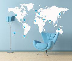 Large World Map £59.99 by Edward , via Behance