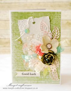 From our Design Team! Card by Małgorzata Dudzińska featuring these Dies - Heart Doily Border Die, Butterflies Set 1 Dies, Rolled Rose Small Medium Die, Rolled Rose Large Die, Open Leaf Flourish Die :-)  Shop for our products here - shop.lalalandcrafts.com   More Design Team inspiration here - http://lalalandcrafts.blogspot.ie/2015/03/inspiration-wednesday-good-luck-or-st.html
