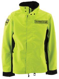 SLEDNECKS DESTROYER JACKET (2015) - #Limon, Non insulated  http://www.upnorthsports.com/snowmobile/snowmobile-clothing/snowmobile-jackets/mens-jackets/slednecks-destroyer-jacket-2015.html