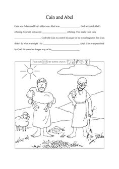 3. Cain & Abel lesson(Eng)_009 Cain And Abel, Bible Crafts, Youth Ministry, Lessons For Kids, Sunday School, Religion, Comics, Books, Bible