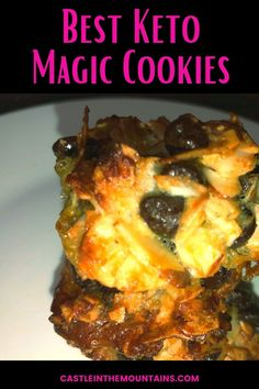 The Best Keto Magic Cookies Recipe is easy and can be made in under 30 minutes. Bust those cravings and stay on track. #easyketocookies #castleinthemountains #ketocookies Delicious Cookies, Easy Cookie Recipes, Keto Cookies, Dark Chocolate Chips, Diet And Nutrition, Low Carb Recipes, The Best, Cravings, Good Food