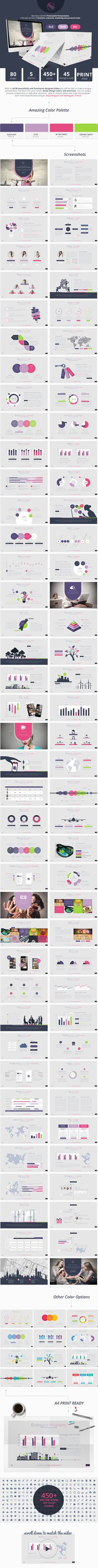 Ombre Powerpoint Presentation Template #powerpoint #powerpointtemplate…