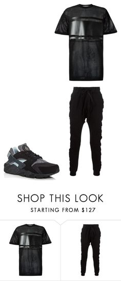 """Darkness is Back"" by kaharievans ❤ liked on Polyvore featuring Givenchy, Blood Brother, NIKE, men's fashion and menswear"