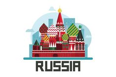 Russia, Moscow - Illustrations