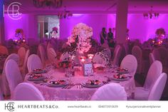 Wedding table decoration with orchid