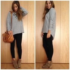 la reina del low cost pilar pascual del riquelme botoncitos tienda de ropa online barata jersey gris basico style outfit total look blog de moda barata blogger española blogger madrid blogger alicante ootd outfit  (2)