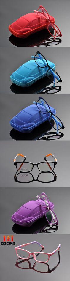 DEDING Unbreakable Kids Silicone Rectangle Flexible Glasses Frame Size 47,Children Student Eyeglasses For Girls Boys DD0282-1