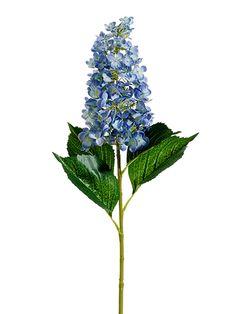 Cone Hydrangea Stem in Blue and Soft Green | Silk Wedding Flowers | Afloral.com