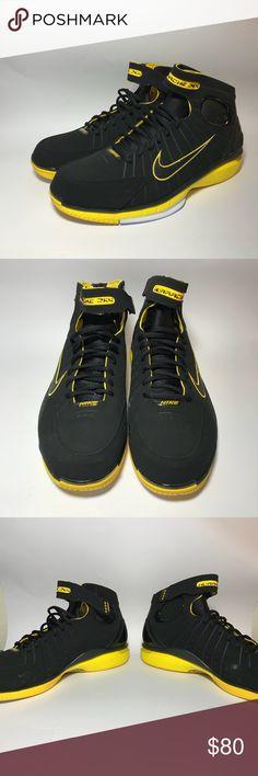 0321008c3e53 Nike Huarache 2K4 Zoom Air Mens Black Yellow white Nike Huarache 2K4 Zoom  Air