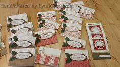 Scraps of paper CHECK! Cricut cuts ... CHECK! Holly & Berries .. CHECK! Shimmer Trim ... CHECK! Message stamped ... CHECK!