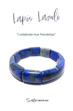 This luscious Lapis Lazuli gemstone jewel is the deluxe version of your childhood friendship bracelet. Hold your friends near and dear in this circular bangle of trust. Click to shop Satin Crystals now or Pin to save for later. #crystals #gemstones #bracelets #jewelry Friendship Love, Friendship Bracelets, Chakra Healing, Crystal Healing, Blue Crystals, Stones And Crystals, Lapis Lazuli Bracelet, Meditation Crystals, Crystal Gifts