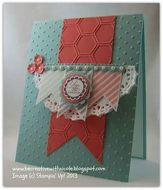 Be Creative With Nicole: Thursday CCMC250 Color Challenge  I made this for the color challenge this week at Create with Connie and Mary.  I used Hearts A Flutter and A Round Array.  Lots of details plus close up on my blog today.