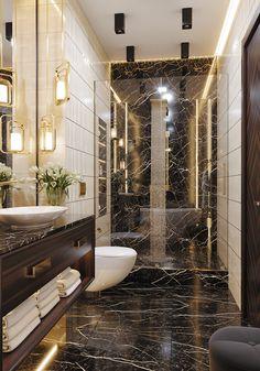 Жк Стокгольм on Behance Modern Luxury Bathroom, Bathroom Design Luxury, Modern Bathroom Design, Luxury Bathrooms, Washroom Design, Toilet Design, Home Room Design, Home Interior Design, Dressing Room Design