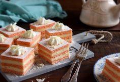 Flamingó szelet Judit69 konyhájából My Recipes, Vanilla Cake, Waffles, Cheesecake, Pudding, Breakfast, Foods, Cakes, Food Food