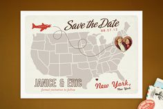 Up and Away Save the Date Cards by Unless Someone Like You at minted.com