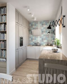 kuchnia , biały , mozaika