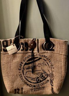 El Salvador Coffee Tote Bag Handmade Custom Burlap Totebag Thequeenbean Millscoffee