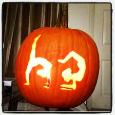 Awesome gymnastics pumpkin I wish I was this creative!