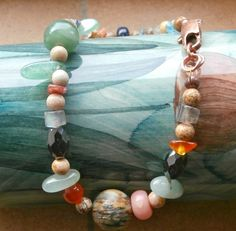 The Leftovers bracelet semi precious and copper gemstone. £7.00