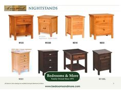 So many nightstand options, so few places to put a nightstand! When you custom order a Nightstand by American Woodcraft, you can get exactly what you're looking for. Choose from 11 style configurations, 5 wood options, 13 wood finishes, and 16 high quality hardware options (knobs, pulls, etc.). We'll ship to you! Call us in Seattle at Bedrooms & More: 1-888-297-8844