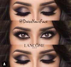 Sultry smokey eyeshadow with a clean arabic liner all around to create the ultimate cat eye!