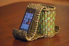 Плетёная подставка-органайзер для смартфона . Часть 2.1. Продолжаем тему подставок для мобильных телефонов, смартфонов, планшетов. Первую часть можно посмотр...