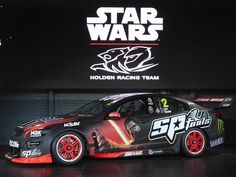 Bathurst Star Wars Holden livery for Garth Tander, Warren Luff Holden Racing Team Commodore at Mount Panorama, pictures, pics Mount Panorama, V8 Supercars, Chevy Ss, Holden Commodore, Poster Boys, Racing Team, Gto, Touring, Race Cars