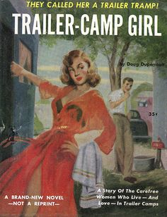 great pulp fiction cover featuring trailers 50's