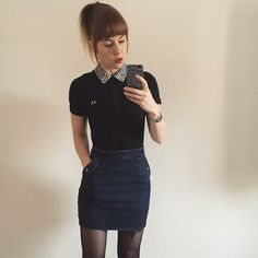 Designer Clothes, Shoes & Bags for Women Chica Skinhead, Skinhead Girl, New Outfits, Cute Outfits, Fashion Outfits, Chelsea Girls, Chelsea Cut, Estilo Geek, Mod Look