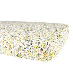 Flutterby Oh-So-Soft Muslin Crib Sheet Butterfly Baby Room, Butterfly Print, Yellow Nursery, Baby Yellow, Crib Mattress, Crib Sheets, Dandelion Yellow, Bright Decor, Nursery Themes