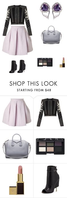 """Chicago Winter Party Outfit"" by kasteljewelry on Polyvore featuring Kenzo, BCBGMAXAZRIA, Givenchy, NARS Cosmetics, Tom Ford, women's clothing, women's fashion, women, female and woman"