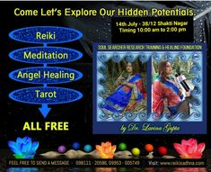 Take Reiki classes in delhi by one of the best reiki grandmaster in delhi, reiki online course in delhi by best reiki institutes in delhi, Reiki Sadhna . Lavina is a spiritual healer and offers best reiki classes , with online tarot training delhi. Spiritual Healer, Spirituality, Know Your Future, Reiki Classes, Online Tarot, Reiki Meditation, Tarot Learning, Free Soul, Inner Peace