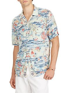 7440550b80c Polo Ralph Lauren - Short-Sleeve Travel-Print Button-Down Shirt. Polo Ralph  Lauren ShortsCasual Shirts For MenCasual ...