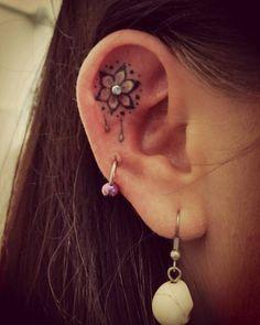 coolTop Friend Tattoos - Cute Ear Tattoos for Women - Ear Tattoo Ideas for Girls... #TattooIdeasForWomen #ILoveTattoos!