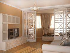 Интерьер гостиной-спальни в двухкомнатной квартире