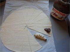Mini croissants au Nutella, recette rapide et facile