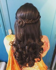 Open Hairstyles, Wedding Hairstyles For Long Hair, Indian Hairstyles, Hairstyles Haircuts, Braided Hairstyles, Short Hair, Hairstyle For Indian Wedding, Saree Hairstyles, Updo Hairstyle