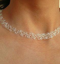 Die 15 Besten Bilder Von Häkelketten Wire Crochet Jewelry Und