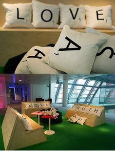 I love these pillows - great design and conversational pieces.